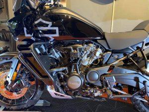 Motocyclette Tourisme Harley-Davidson - Pan America 2021 - Détails du côté